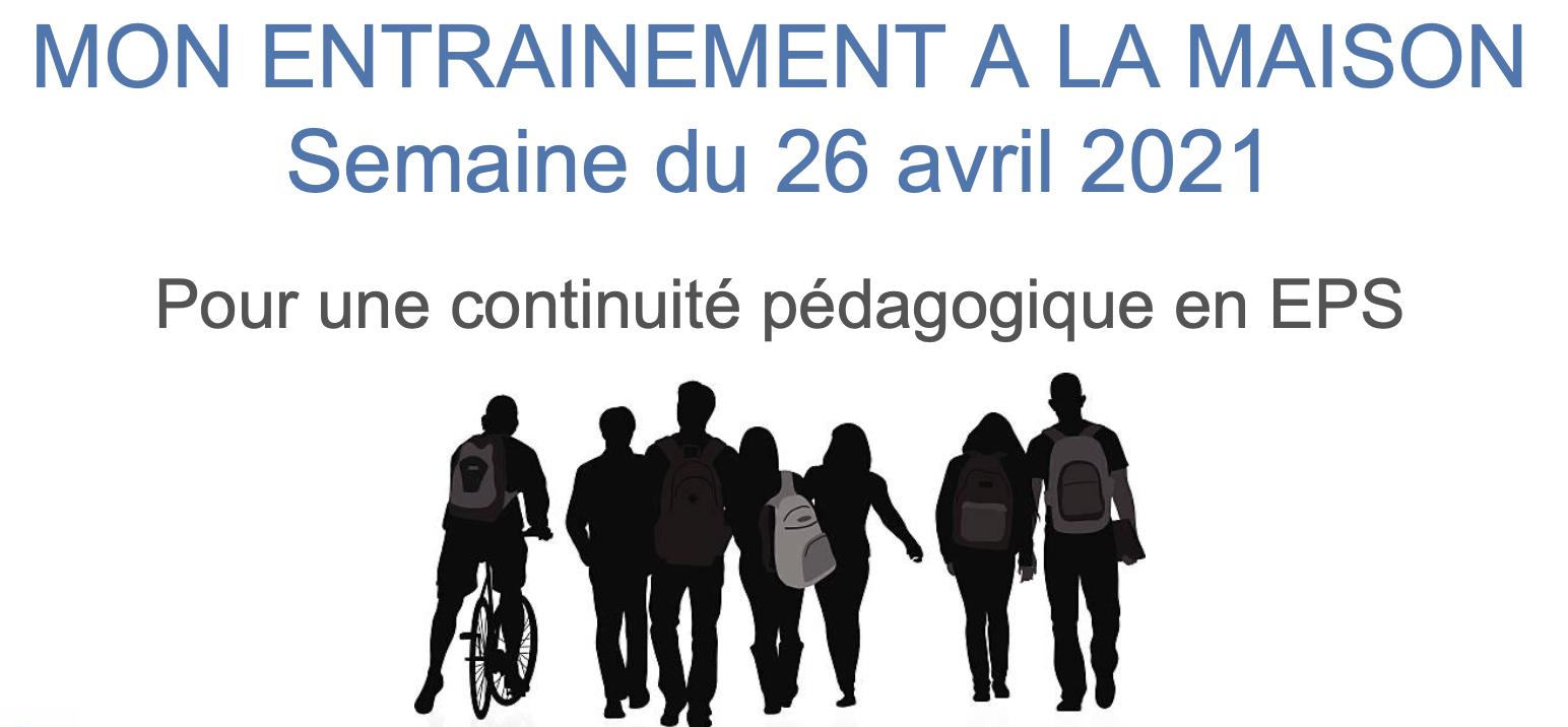 Continuité pédagogique en EPS – Semaine du 26 avril